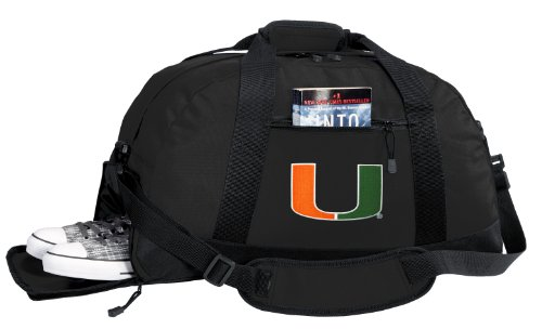 iami Duffel Bag - Miami Canes Gym Bags w/ SHOE POCKET (Miami Gym Bag)