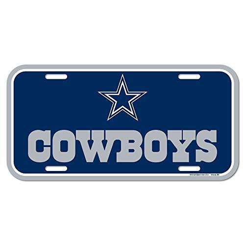 WinCraft NFL Dallas Cowboys License Plate (Dallas Cowboy Wreath)