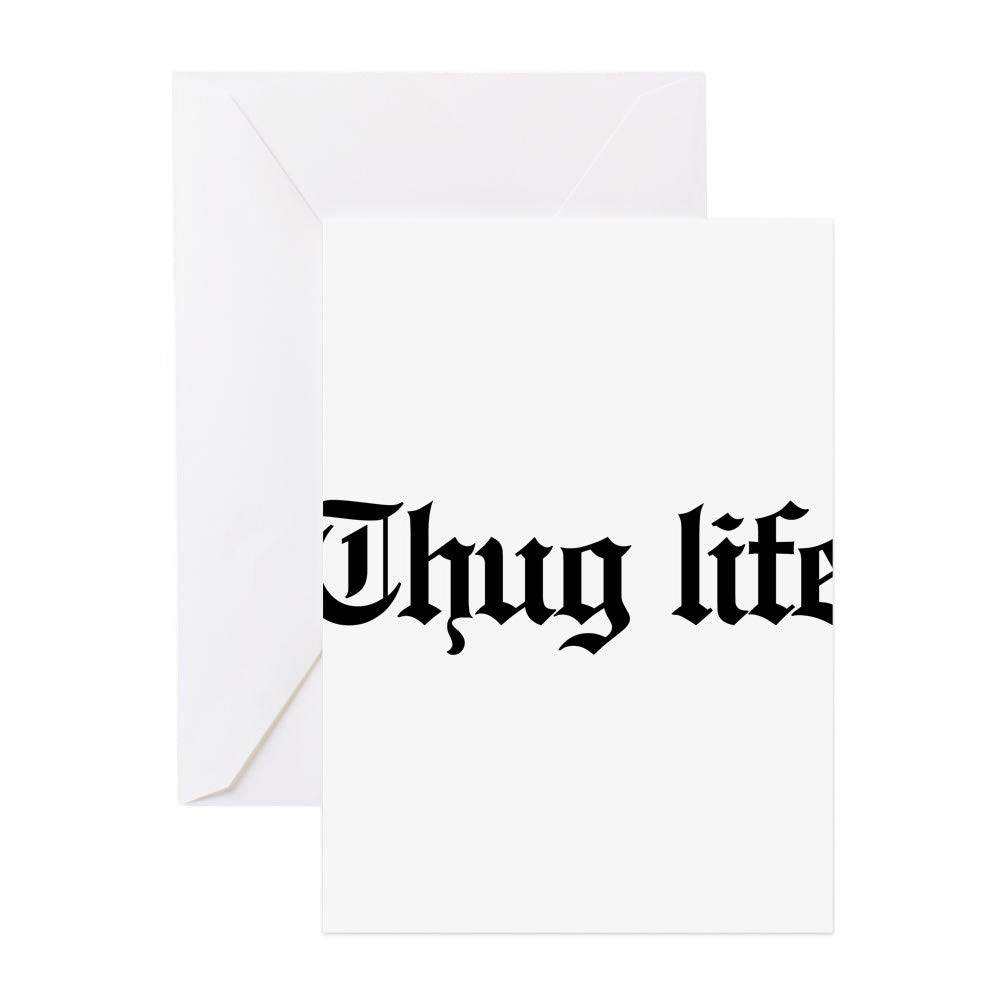Amazon CafePress Thug Life Gangster Bab Greeting Card 20 Pack Note With Blank Inside Birthday Glossy Office Products
