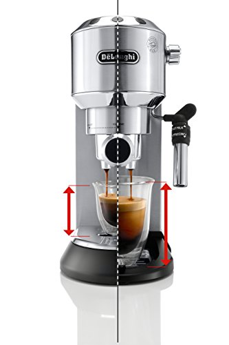 41Gg5%2BSM7ML - DeLonghi America, Inc EC685M Dedica Deluxe espresso, Silver