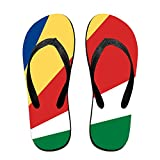 Flag Of Seychelles Cool Flip Flops For Children Adults Men And Women Beach Sandals Pool Party Slippers