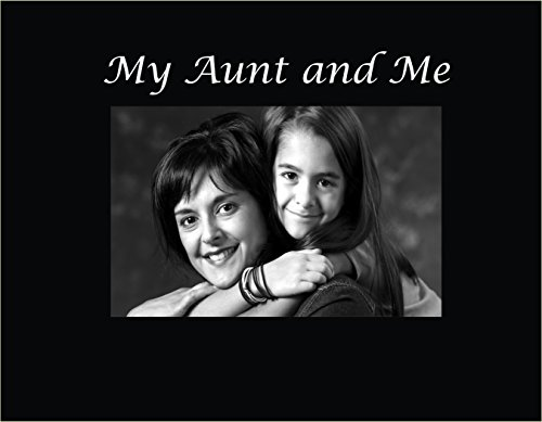 Infusion Gifts 3025-SB My Aunt and Me Engraved Photo Frame, Small, Black
