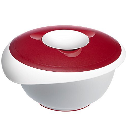 Westmark Mixing Bowl with Two Piece Lid and Removable Splash Guard Red