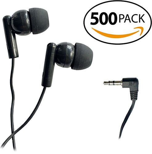 SmithOutlet 500 Pack Classroom Student Testing Headphones Earbuds in Bulk by SmithOutlet