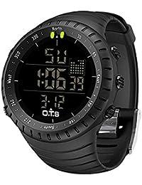 Men's Digital Sports Watch Waterproof Tactical Watch with LED Backlight Watch for Men