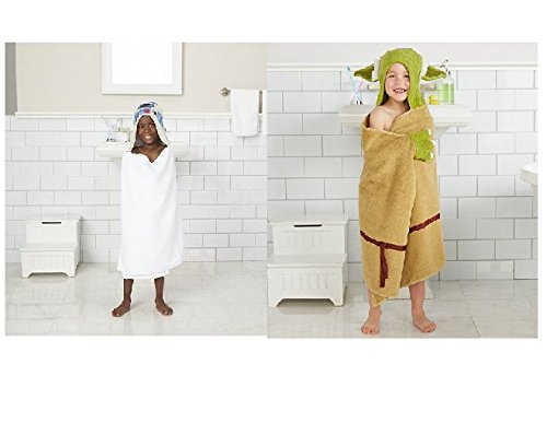 Jumping Beans Star Wars R2D2 and Yoda Hooded Bath Towel W...