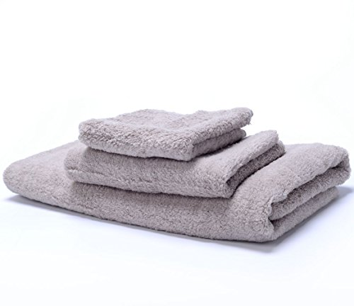 ZORALA Natural Quality Cotton Bath Towel Set Grey 3 Pcs  - D
