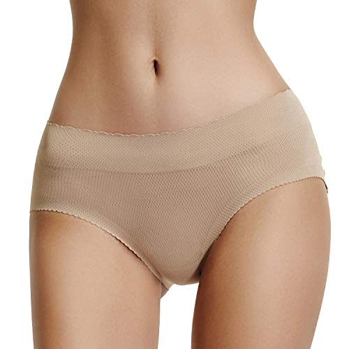 Padded Panties Butt Enhancer Underwear Women Seamless Booty Lifter Shaper (Nude-New Size, L)