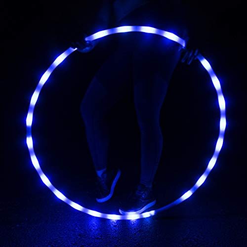 GlowCity Light-Up LED Hoola Hoop – 36 inch Glow-in-The-Dark Fitness and Dance Hoop for Adults and Kids