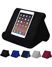 Aptech Tablet Pillow Stand for iPad, Multi Angle Soft Pillow Pad Phone Pillow Lap Stand, Universal Reading Tablet Stand Pillow Holder, Lap Stand Mobile Phone Holder (Black)