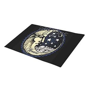 EleganceElegant Decorated Wiccan Monogrammed Door Mat