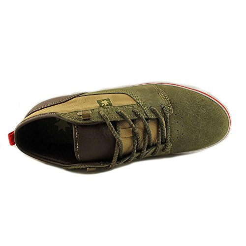 DC Tonik Mid Unrestricted Mens Size 10.5 Green Leather Skate Shoes
