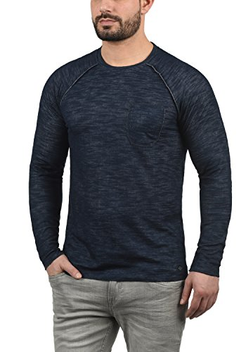 Rond 100 Homme En Encolure Pull solid Sweat Insignia Don Sweat Blue 1991 shirt Coton z8nYTw