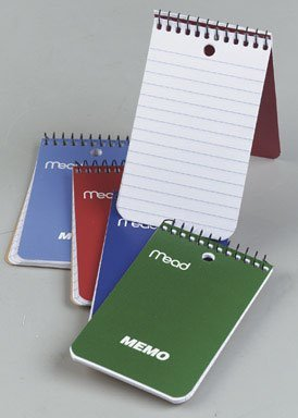 Mead 45354 Memo Book, 3X5-Inch (60 sheets, 24 Pack)
