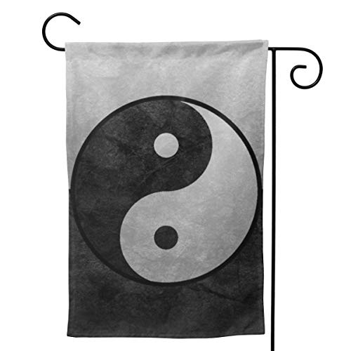MINIOZE Taoist Yin Yang Tai Chi Themed Welcome Extra Big Large Jumbo for Party Outdoor Outside Decorations Ornament Picks Garden Yard Decor Double Sided 12.5 X 18 Flag