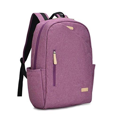 FEN Rucksack Frauen koreanische Version der High-School-Tasche Computer Tasche einfache Reisetasche Mode lässig Rucksack (blau, grau, lila) , Purple Purple