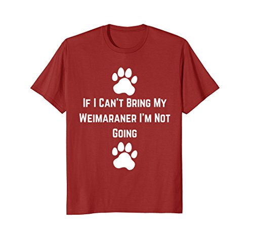 Mens Weimaraner Dog Breeds T-Shirt Medium Cranberry