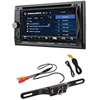Power Acoustik PD-625XB 2-DIN Source Unit With SXM Interface/Bluetooth/Detach 6.2 LCD with Cache License Plate Nightvision Camera
