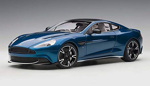 2017 Aston Martin Vanquish S Ming Blue with Carbon Top 1/18 Model Car by Autoart 70274
