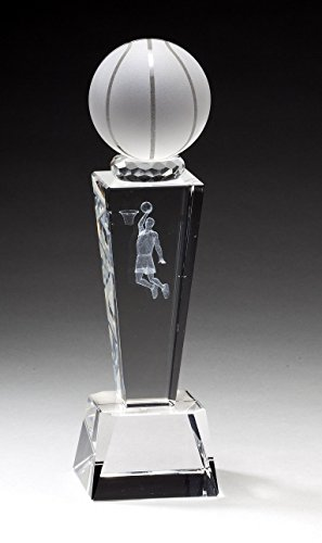 - Crystal Basketball Trophy with Free Engraving (Customize Now!)
