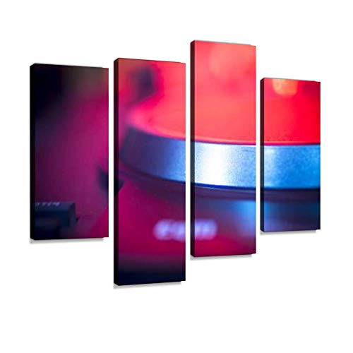 DJ Console Mixing Desk Ibiza House Music Party Nightclub Canvas Wall Art Hanging Paintings Modern Artwork Abstract Picture Prints Home Decoration Gift Unique Designed Framed 4 Panel