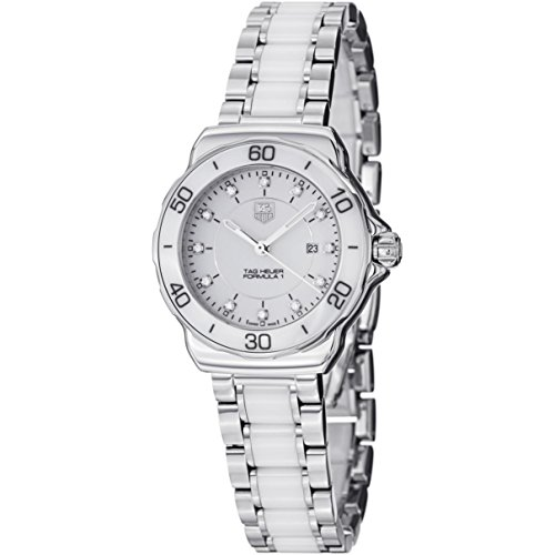 Tag Heuer Womens WAH1315.BA0868 Formula 1 Stainless Steel Sport Watch with Diamonds