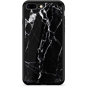 super popular a9a27 b9fae Obbii iPhone 7 Plus /8 Plus Case(5.5 inch) Case Unique Black Marble Design  Aluminum PC Back +Non-slipTPU Bumper Protective Durable Cover Case With ...