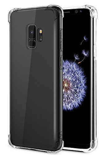 Galaxy S9 Case, Caka Galaxy S9 Clear Case Slim Anti Scratch Excellent Grip Flexible Premium Clarity Silicone Soft TPU Crystal Protective Case for Samsung Galaxy S9 – (Clear)