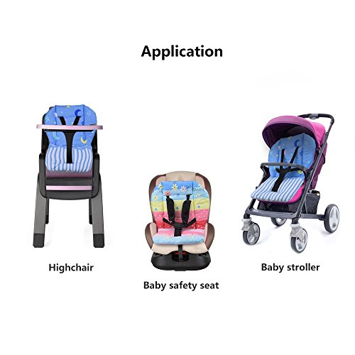 Topwon Baby Stroller/Car Seat/High Chair Wateroof Rainbow Striped Breathable Cushion Seat Liners Cover Protector by Topwon (Image #4)