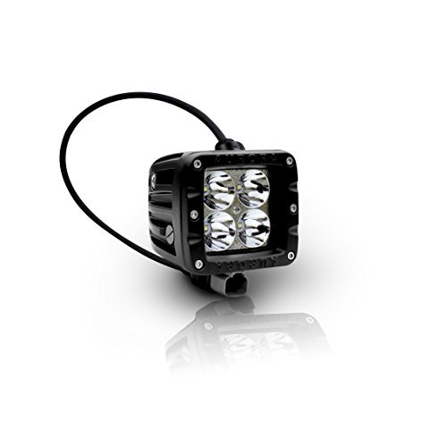 "Aurora LED Cube Working Light, 2"" By 40W Unit, 4 X 10W Cree White LEDs. 3200 Lumens For 2.8A, Spot Beam At ()"