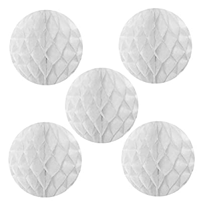Allydrew Hanging Party Decoration, 6 Inch Tissue Honeycomb Ball for Weddings, Birthday Parties, Baby Showers, and Nursery Décor (5 pack)