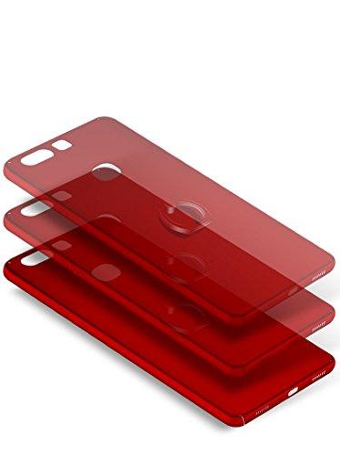 Huawei Honor V8 Funda , color sólido, estilo sencillo,Alta Calidad Ultra Slim Anti-Rasguño y Resistente Huellas Dactilares Totalmente Protectora Caso de Plástico Duro Cover Case+stand holder-RG19 A