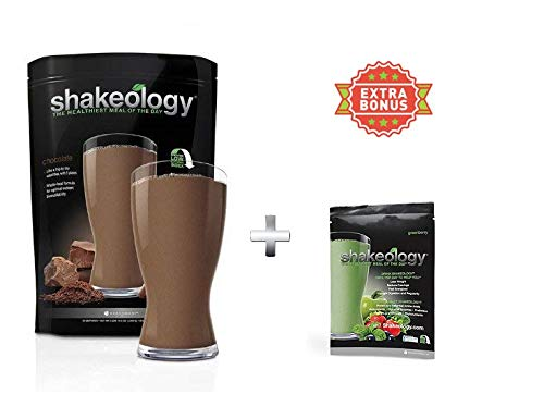 Shake Chocolate 30 Servings (Bulk) in a Bag 2.38LBS +Extra Bonus greenberry Pack 1.25oz for Free