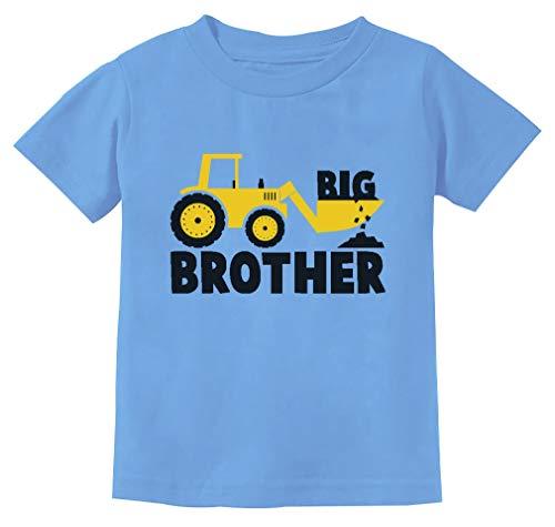Tstars - Big Brother Gift for Tractor Loving Boys Toddler/Infant Kids T-Shirt 3T California Blue