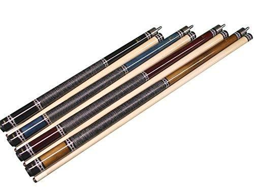(Aska Pool Cue Set of 4 Short Kids Cue Sticks Irish Linen Wrap L9CS)