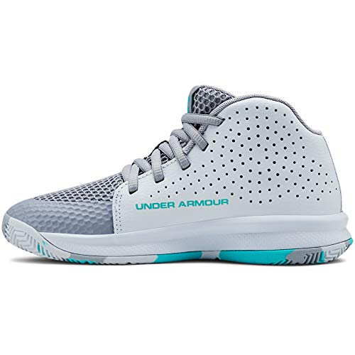 Under Armour Kids' Pre School 2019 Basketball Shoe, Blue Heights (403)/Moonstone Blue, 1 (Shoe For Basketball)