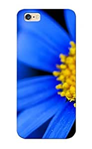 First-class Case Cover For Iphone 6 Plus Dual Protection Cover Nature Flowers Petals Blue Macro Close Up Yellow Contrast