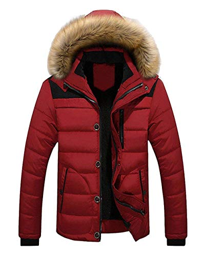 Men's Parka Winter Jacket Fur Apparel Hood Jackets Cotton Hooded Men Leisure Comfortable Coarse Warm Transition Coat Rot