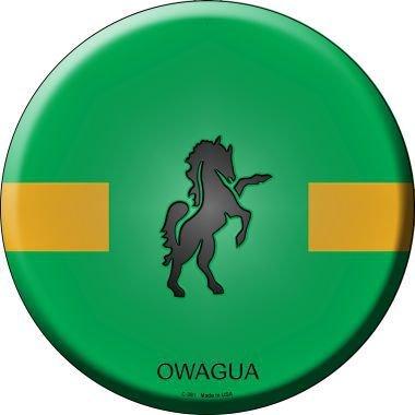 Owagua Country Novelty Metal Circular Sign - C381
