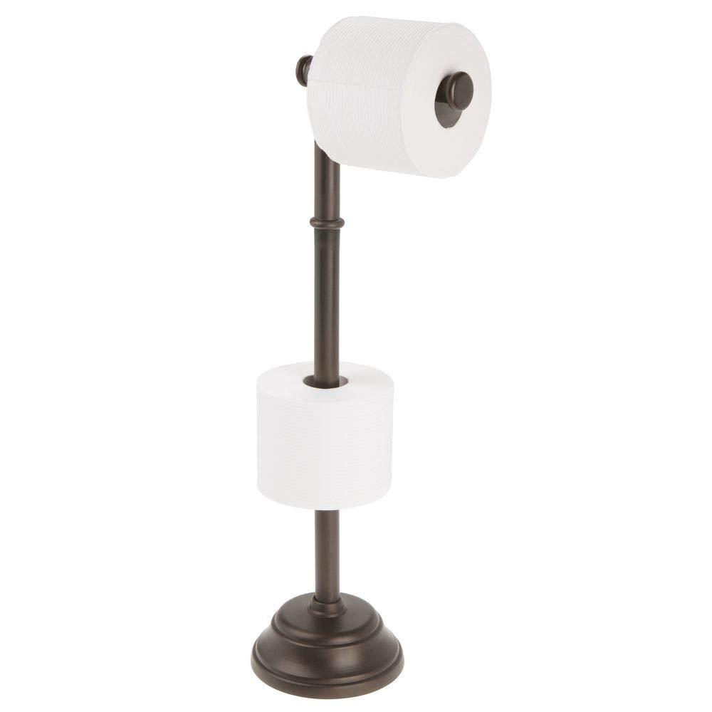 Acero 3x13.5x9.5 cm Wenko Power-Loc Portarrollos Simple Plateado