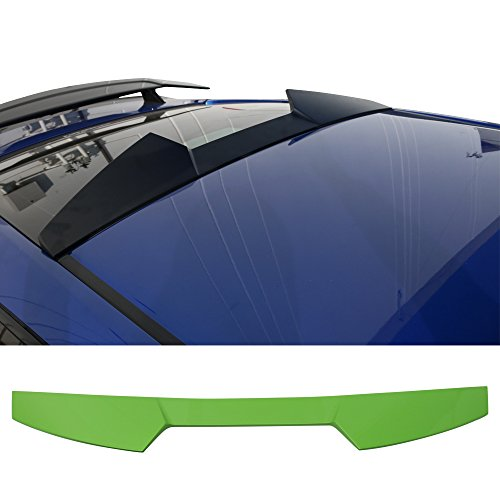 Pre-Painted Roof Spoiler Fits 2016-2018 Honda Civic   V Style #GY30P Energy Green Pearl ABS Rear Tail Lip Deck Boot Wing by IKON MOTORSPORTS