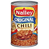 chili canned - Nalley, Canned Chili, 15oz Can (Pack of 6) (Choose Flavors Below) (Original Chili Con Carne With Beans)