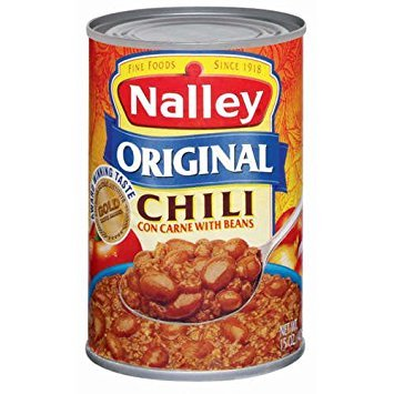 Nalley, Canned Chili, 15oz Can (Pack of 6) (Choose Flavors Below) (Original Chili Con Carne With Beans)
