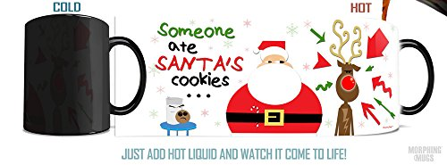 Morphing Mug Santa's Cookies Ceramic Mug (Rudolph Did It) (Cookie Rudolph)