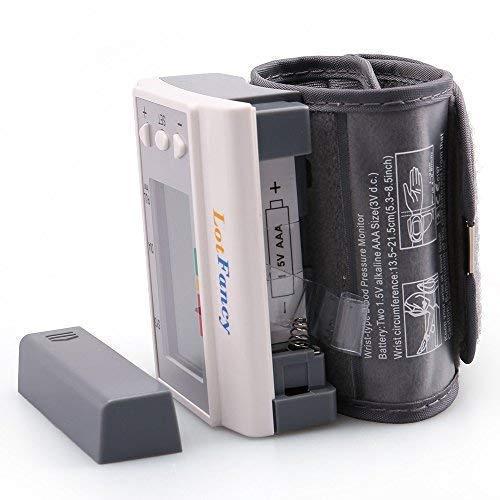 Wrist Pressure Monitor LotFancy, Sphygmomanometer with Case, 4 User,