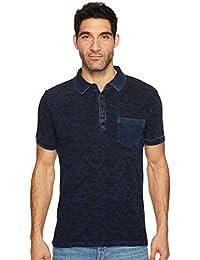 Lucky Brand Men's Indigo Palm Polo Shirt