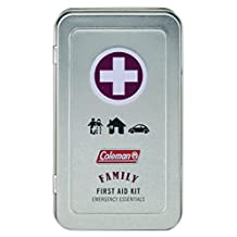 Coleman Metal First Aid Kits, Family, Personal Survival and All Purpose First Aid Tins