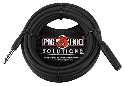25' Headphone Extension Cable - Pig Hog PHX14-25 1/4