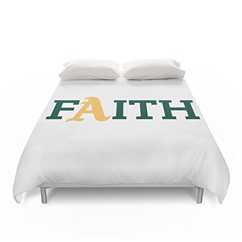 Society6 Oakland A's Faith Duvet Covers King: 104'' x 88'' by Society6