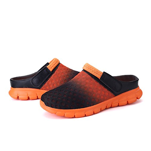 Zuecos Unisex T de Chanclas Sandalias Naranja Respirable Mujeres Hombres Zapatillas Gold Playa xaUUqw5Y